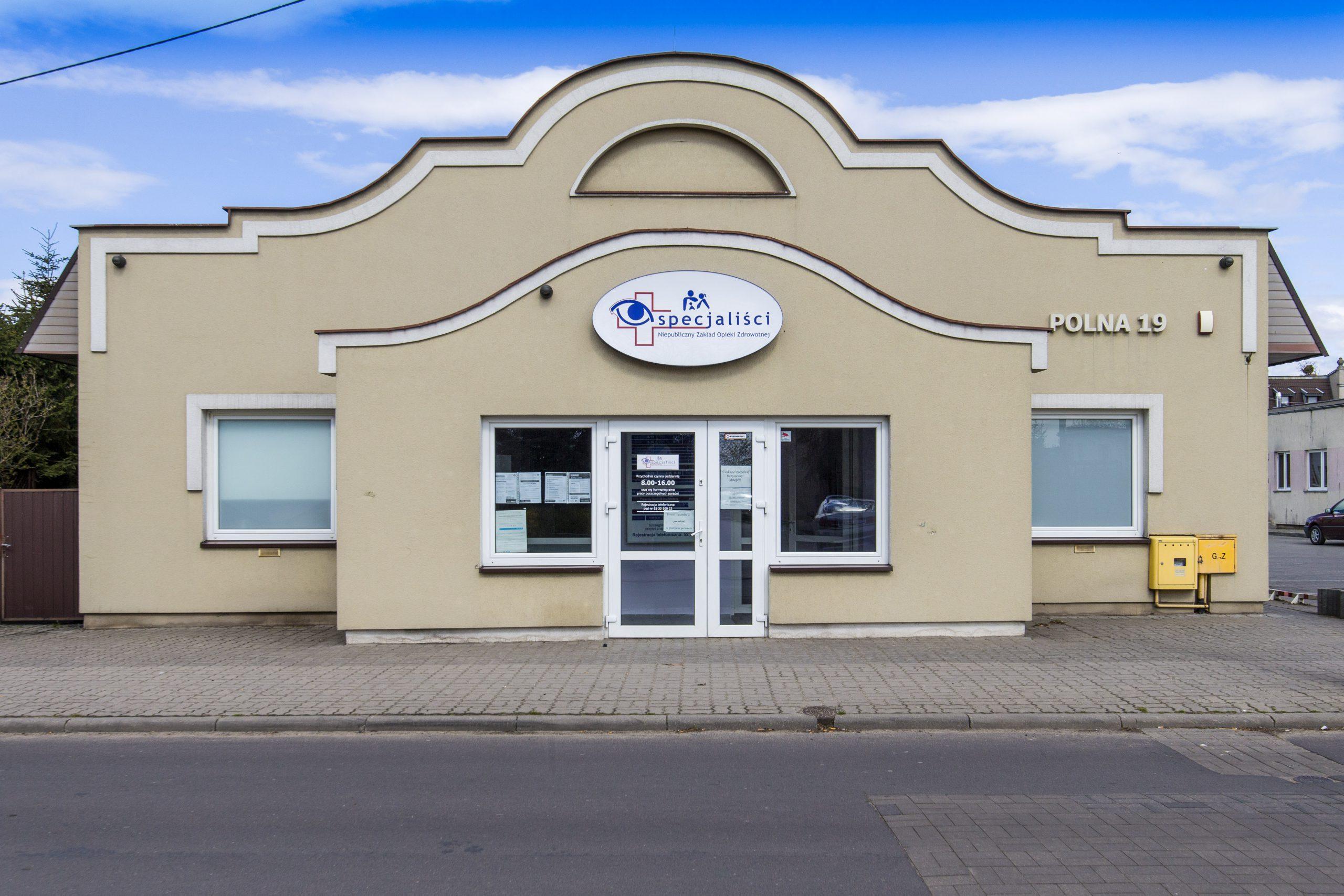 front budynku NZOZ Specjaliści