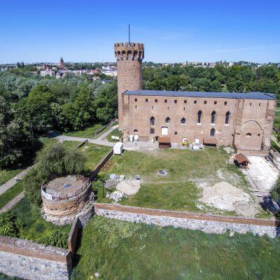 widok z lotu praka na zamek krzyżacki w Świeciu