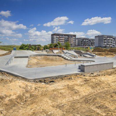 ogólny widok na budowę Art- Parku,