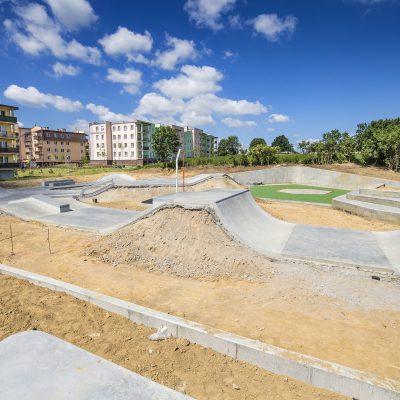 widok na plac budowy Art- Parku, widok ogólny