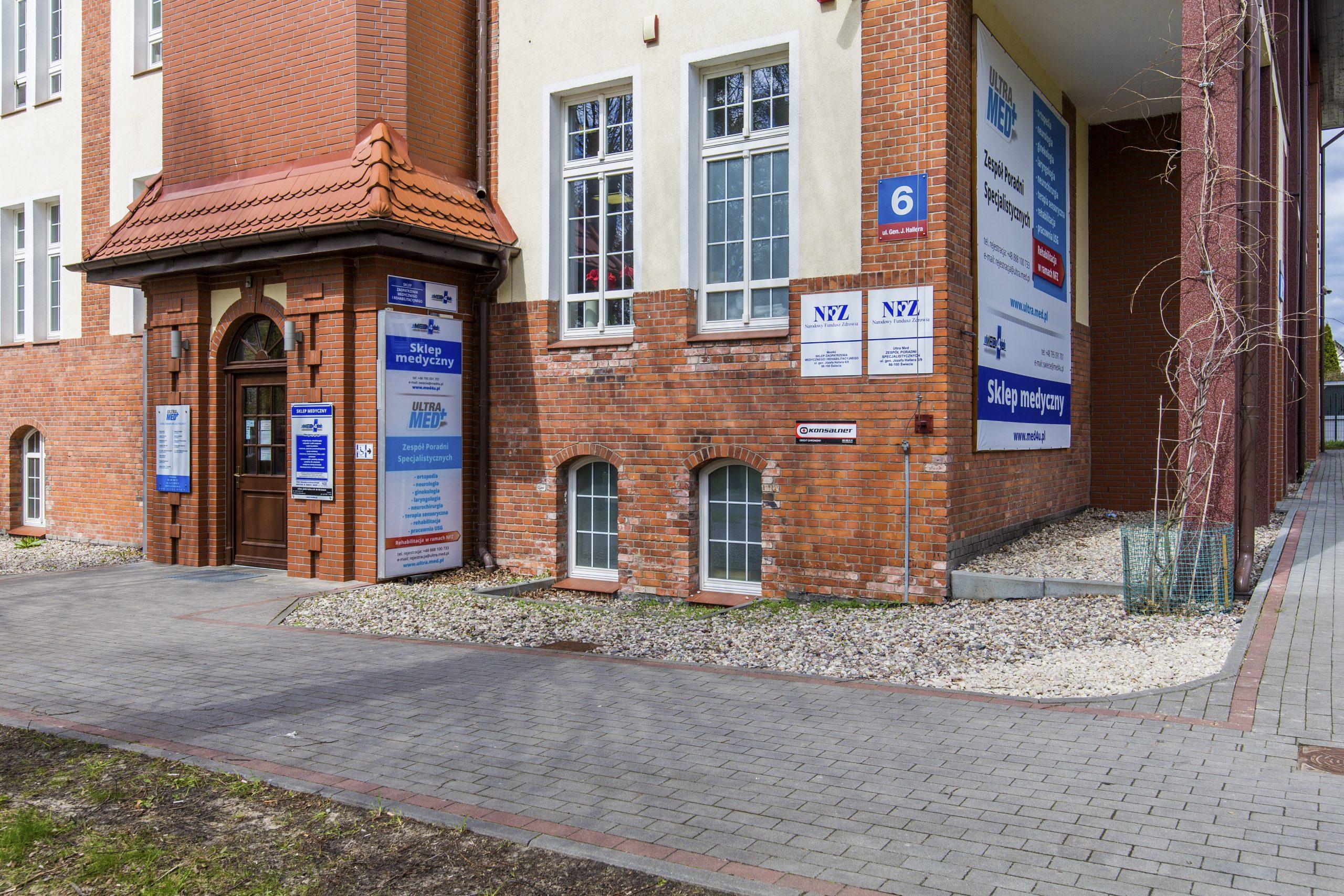 wejście do budynku Ultra Med Sp. z o.o. Zespół poradni specjalistycznych