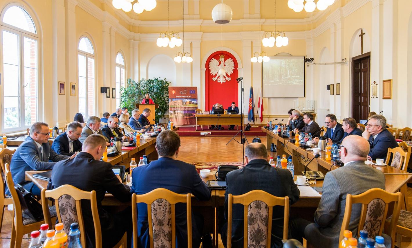 Sala sesyjna Rady Miejskiej w Świeciu