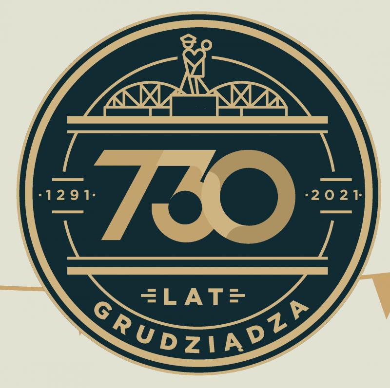logo 730. urodziny Grudziądza