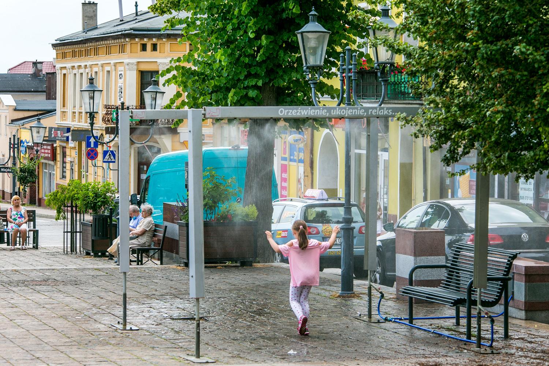 kurtyna wodna na Dużym Rynku