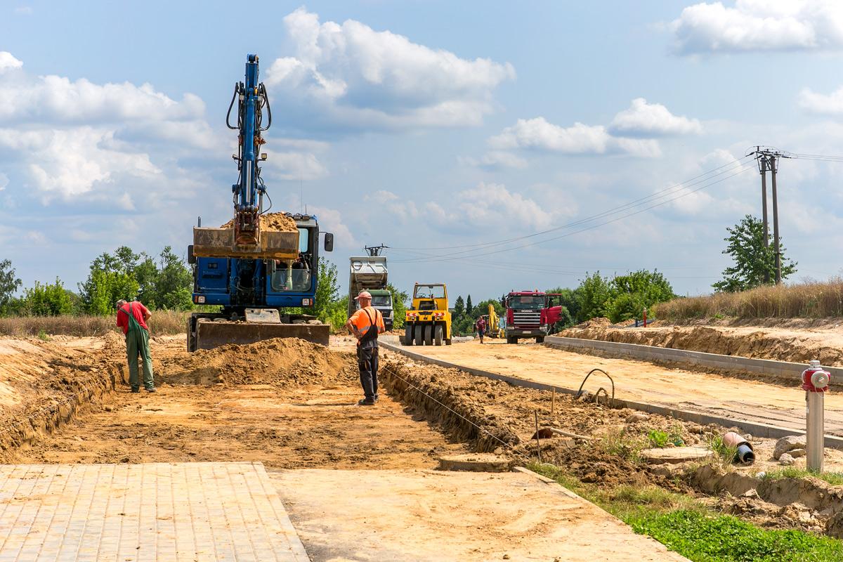 Budowa ulicy Kazimierza Wielkiego w Świeciu